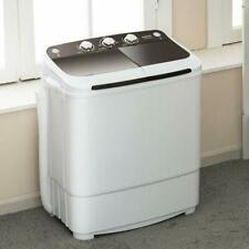 17lbs Washing Machine Portable Compact Twin Tub Spinner Washer&Dryer Laundry