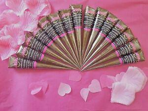 Natural Fresh Organic Henna Cones Handmade Mehndi FOR FAKE FRECKLES Mini Cone