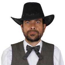 Cappello /& Foulard Costume da Cowboy Carnevale Kit Istantaneo Gilet Stemma