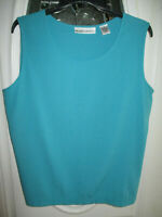 Draper's & Damon's Sleeveless Blouse ~ Tank Top Women's Large Teal