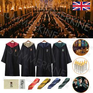 Harry Potter Gryffindor Ravenclaw Slytherin Robe Cloak Tie Costume Taper Light