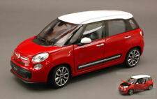 Fiat 500 L 2012 Red With Roof White 1:24 Model 0208 WELLY