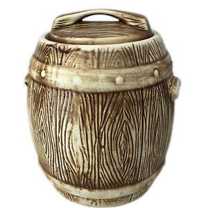 Cucumber Barrel Pot Cucumber Fermentation Pot Einlegetopf 6l Rustic Ceramic
