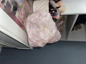 crystals and minerals unpolished rose quartz