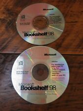 Lot of 2 Bookshelf 98 Reference Library PC Software CDs Discs Windows NT 95