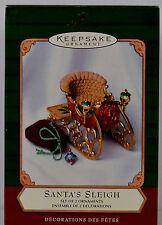 Hallmark Keepsake Santa's Sleigh Christmas Ornament 2001 SLEIGH ONLY