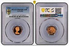 1966 Australia One Cent, 1c PCGS - PR65DCAM -611 D7-241