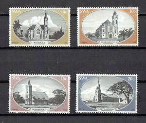 1978 SOUTH WEST AFRICA. HISTORIC CHURCHES FULL SET OF FOUR SC#419-422. MNH.