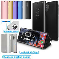 Smart View Mirror Flip Stand Case Cover For Samsung Galaxy Note 10 10 + Plus 5G