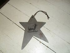 New listing New Hand Painted Primitive Style Small Wooden Decorative Sheep Ornament