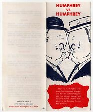 1968 ANTI HHH HUBERT HUMPHREY Political Brochure PRESIDENT RICHARD DICK NIXON