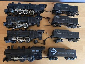 American Flyer S Scale 283, 301, 302 & 21165 Untested Lot For Parts Or Repair