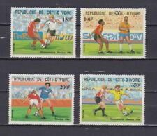 S5985) Ivory Coast 1986 MNH Wc Football '86 - CM Football 4v