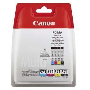 Original Canon CLI-571 Multipack 4er Set PIXMA Druckerpatronen Tintenpatronen!