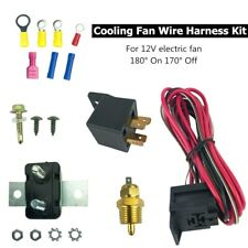 Electric Radiator Cooling Fan Thermostat Relay Wiring Switch Kit 180°On 170° Off