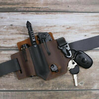Leather Sheath Leatherman Multitool Pocket Organizer with Key Holder for Belt