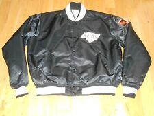 Vintage 80s Starter Black LOS ANGELES KINGS Mens NHL Hockey Team Satin JACKET XL