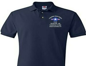 TENNESSEE AIR NATIONAL GUARD CHATTANOOGA EMBROIDERED POLO SHIRT/SWEAT/JACKET.