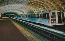 Spacious Metro Stations Washington DC Vintage Unposted Postcard Transportation