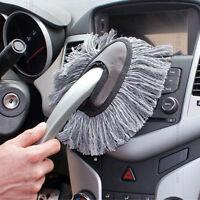 Multi-functional Car Duster Cleaning Dirt Dust Clean Brush Dusting Tool Mop Gray