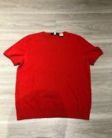 Vintage 90s Saks Fifth Avenue Short Sleeve 100% Cashmere Sweater Shirt Womens M