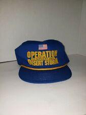 Vintage Operation Desert Storm Blue Helicopter Trucker Hat One Size Cap