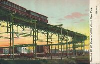 NEW YORK CITY – Elevated Railroad Curve at 110th Street
