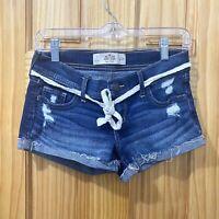 Hollister -  Low Rise Short Short Cuffed Denim Blue W25 Jean shorts - size 1