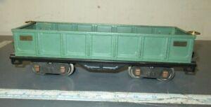 LIONEL-IVES 1772 TRANSITION GREEN GONDOLA CAR