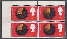 """Gb variété: 1967 découvertes 4d """"broken ring d'écran radar"""" neuf sans charnière bloc"""