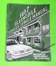 1987 oldsmobile cutlass supreme custom cruiser wiring diagrams service  manual