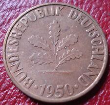 1950-D GERMANY 10 PFENNIG IN EF-AU CONDITION