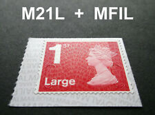 NEW JULY 2021 1st LARGE M21L + MFIL MACHIN SINGLE STAMP from Booklet