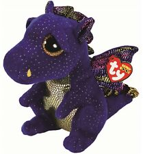 Ty Beanie Babies Boos 37260 Saffire the Blue Dragon Boo Buddy
