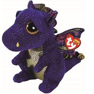 Ty Beanie Boos 37260 Saffire the Blue Dragon Boo Medium