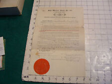 vintage  paper: 1903 Sign Writers' Union SIGNED document.  cool, writing on back