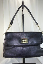 NEW Liz Claiborne Flap Shoulder Bag with Chain Strap - Black.