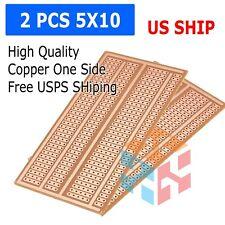 2pc Stripboard Prototype Proto Board PCB 5er Breadboard Layout FR-2 5x10cm