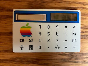 Vintage Apple Computer Credit Card-size Calculator -Steve Jobs -1980's Macintosh