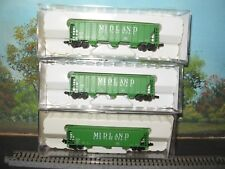 CON-COR N SCALE #0001-001957-1/2/3 TROUGH ROOF 3 BAY COVERED HOPR MIDLAND GRAIN