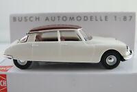 Busch 48026 Citroën DS 19 Limousine (1955-1967) in weiß/rotbraun 1:87/H0 NEU/OVP