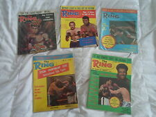 The Ring Boxing Magazine (5) Issues Lot from the Year 1975 Muhammad Ali