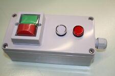 Gehäuse mit Taster Ein + Aus + Lampe, K&B 7222, IP65, aP., Drucktaster, Motor