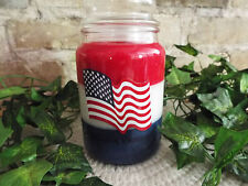 AWESOME TRIPLE LAYER RED/WHITE/BLUE 24OZ SOY CANDLE - YOUR CHOICE OF FRAGRANCE