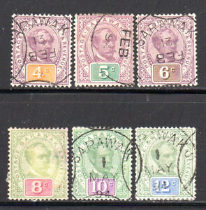 Sarawak Scott 11-16 Used 6 of 14 Sir Chas. Johnson Brooke issued in 1888 |