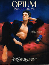 PUBLICITE ADVERTISING  1997   YVES SAINT LAURENT parfum OPIUM  pour homme