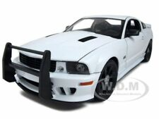 2007 SALEEN S281 E MUSTANG UNMARKED POLICE CAR WHT 1:18 MODEL CAR BY WELLY 12569