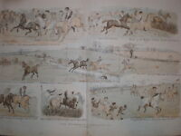 The Wychdale Steeplechase R Caldecott 1880 old colour print