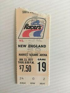 WHA World Hockey Assn 1977 Indianapolis Racers Ticket Stub