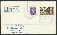 GB 1959 registered cover WIMBLEDON TENNIS CHAMPIONSHIP commem cds..........53338